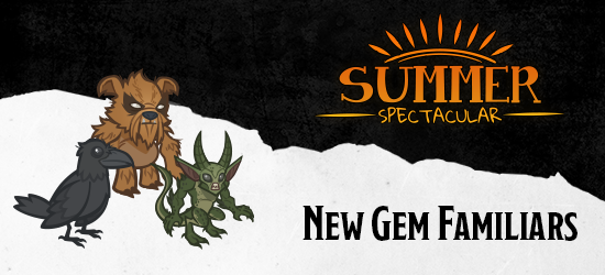 Dungeons & Dragons Summer Spectacular Gem Familiars