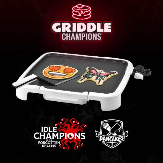 Dungeons & Dragons Dancakes Griddle Champions Kit