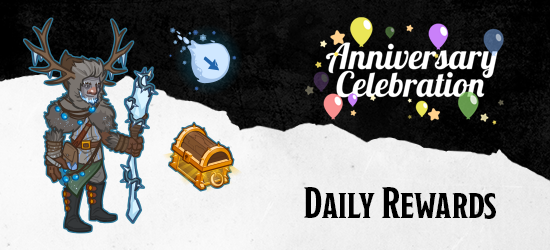 Dungeons & Dragons Third Anniversary Daily Rewards