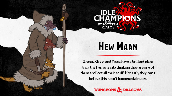 Dungeons & Dragons Hew Maan Three Kobolds in a Trenchcoat