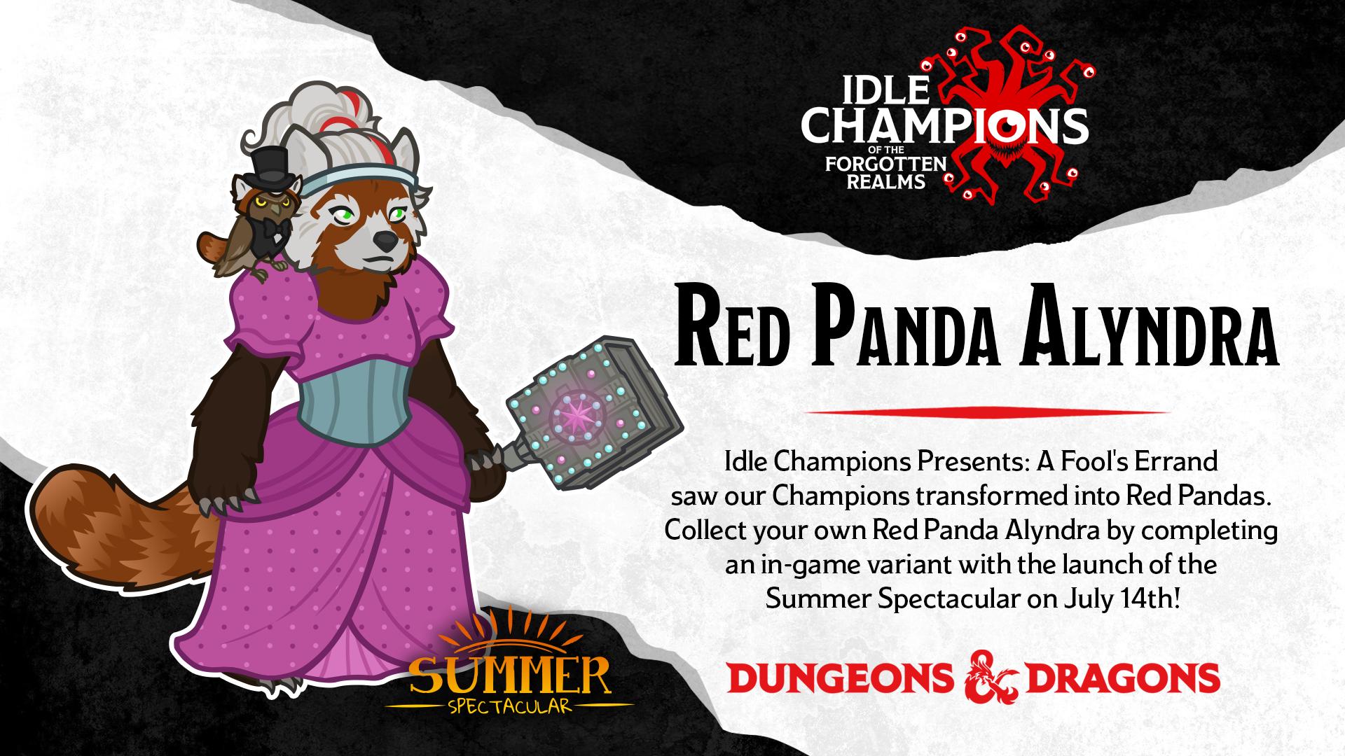Dungeons & Dragons Summer Spectacular Red Panda Alyndra