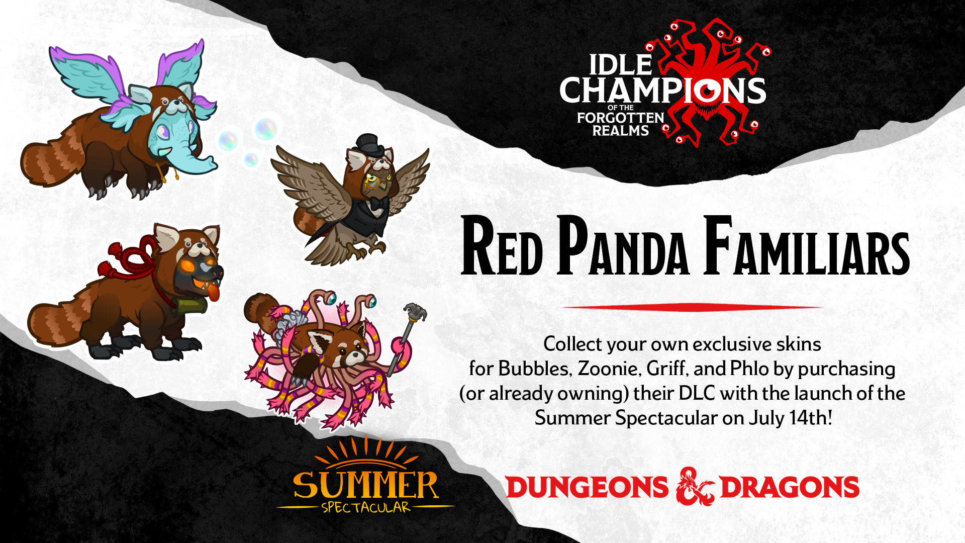 Dungeons & Dragons Summer Spectacular Red Panda Familiars