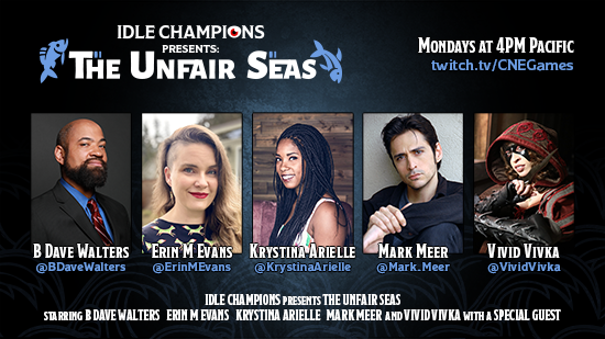 Idle Champions Presents: The Unfair Seas B Dave Walters Erin M Evans Krystina Arielle Mark Meer Vivid Vivka