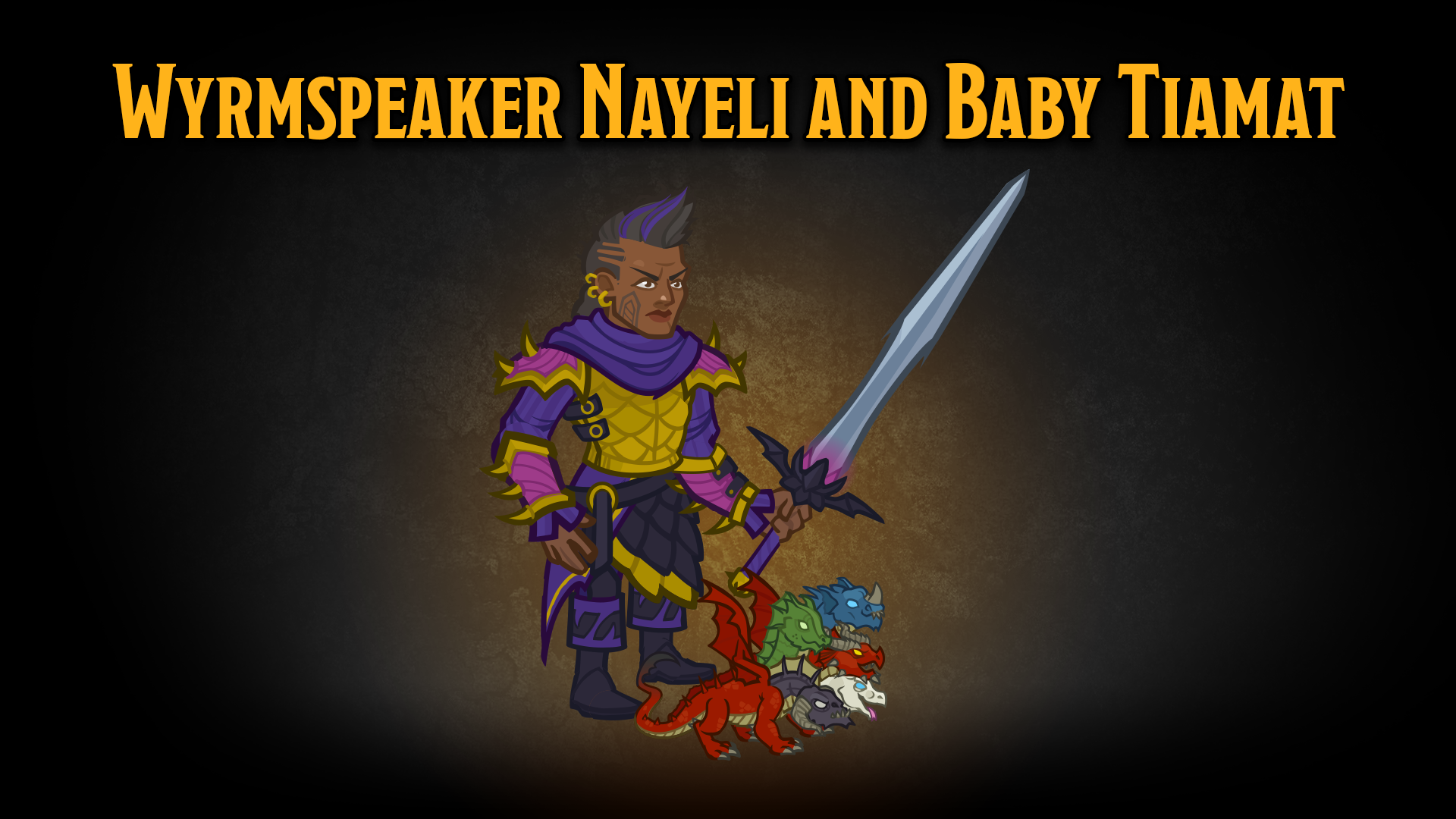 Dungeons & Dragons Trials of Mount Tiamat Nayeli and Baby Tiamat